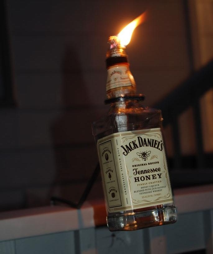 Jack Daniel's Tiki Torch