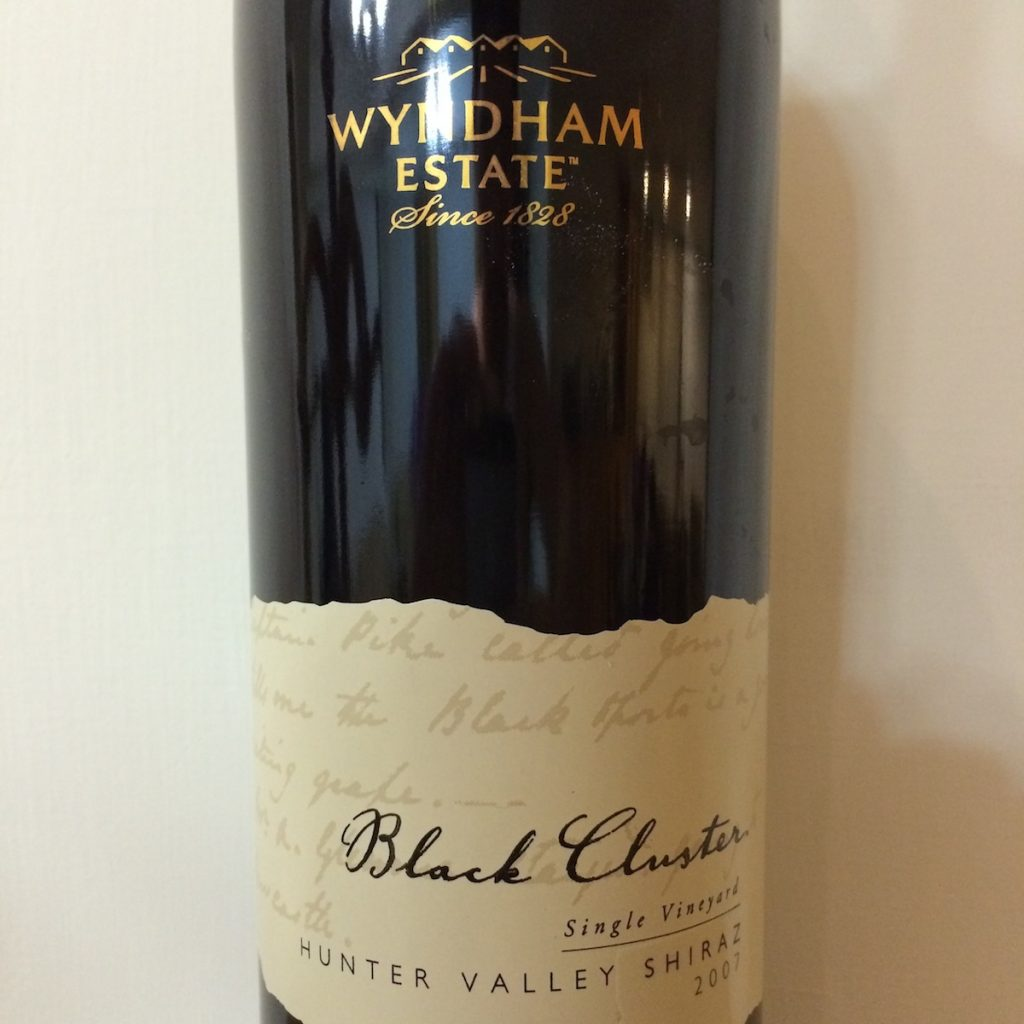 Wyndham Estate Black Cluster wine