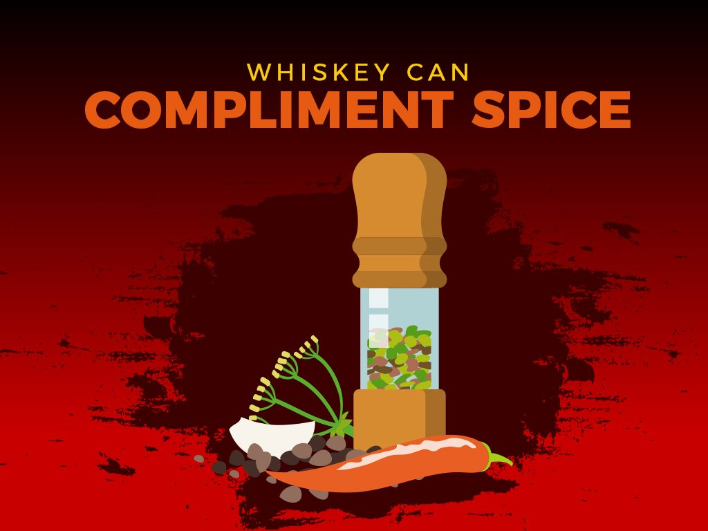 Whiskey can complement spice