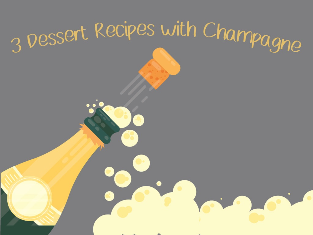 3 Dessert Recipes with Champagne