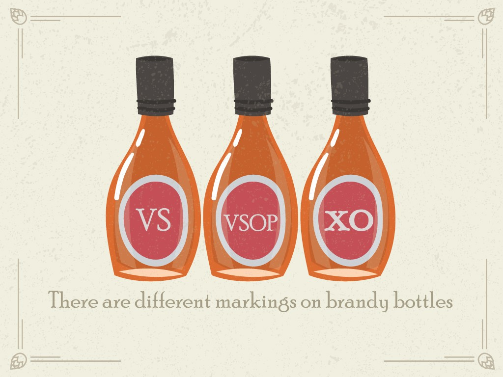 There are Different Markings on Brandy Bottles