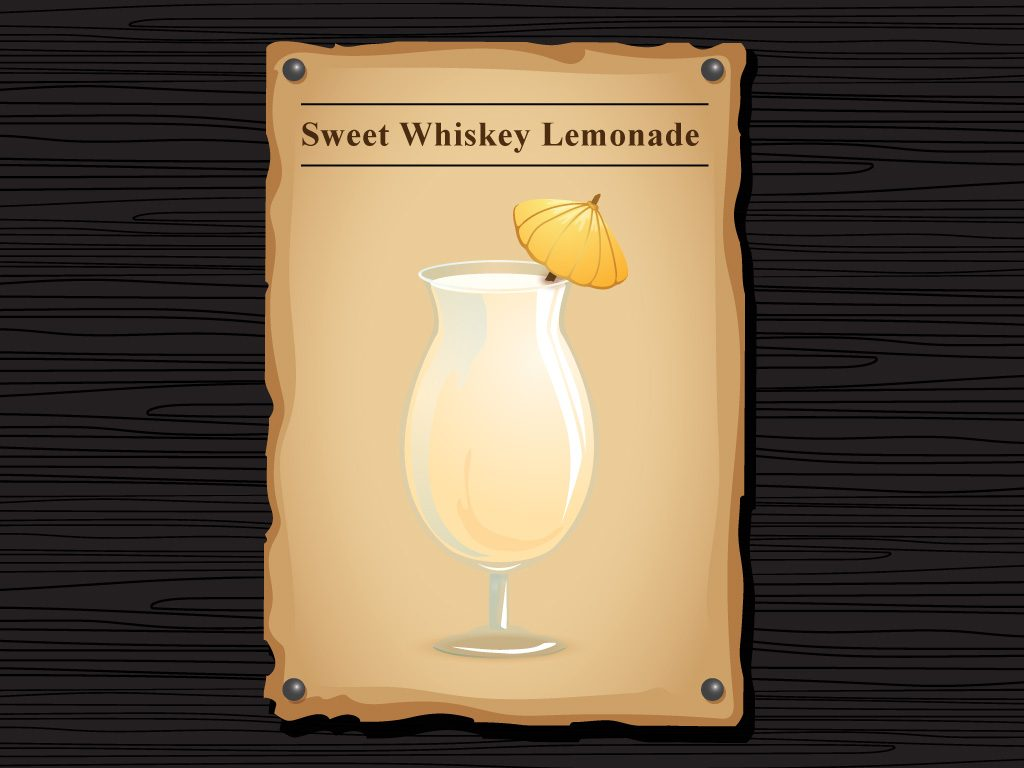 Sweet Whiskey Lemonade