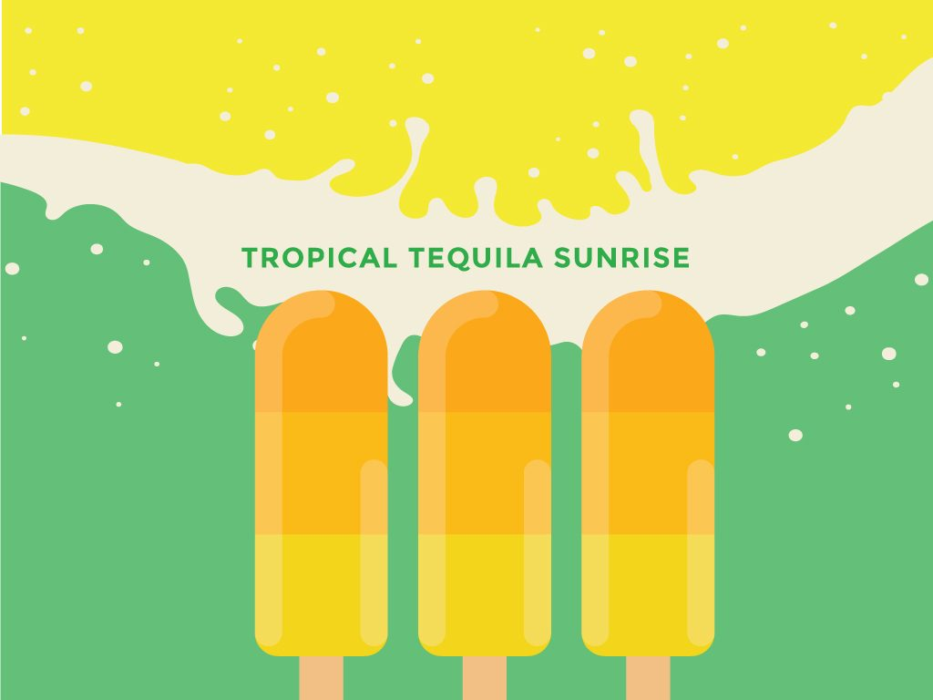 Tropical Tequila Sunrise Pops
