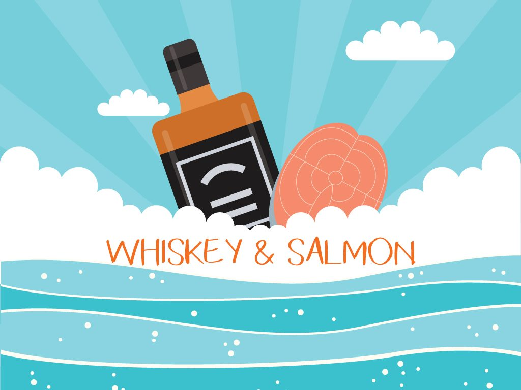 Whiskey + Salmon