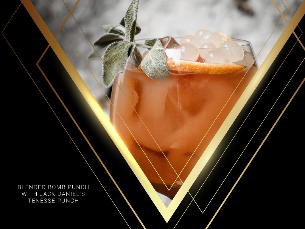 Blended Bomb Punch with Jack Daniel's Tennessee Fire
