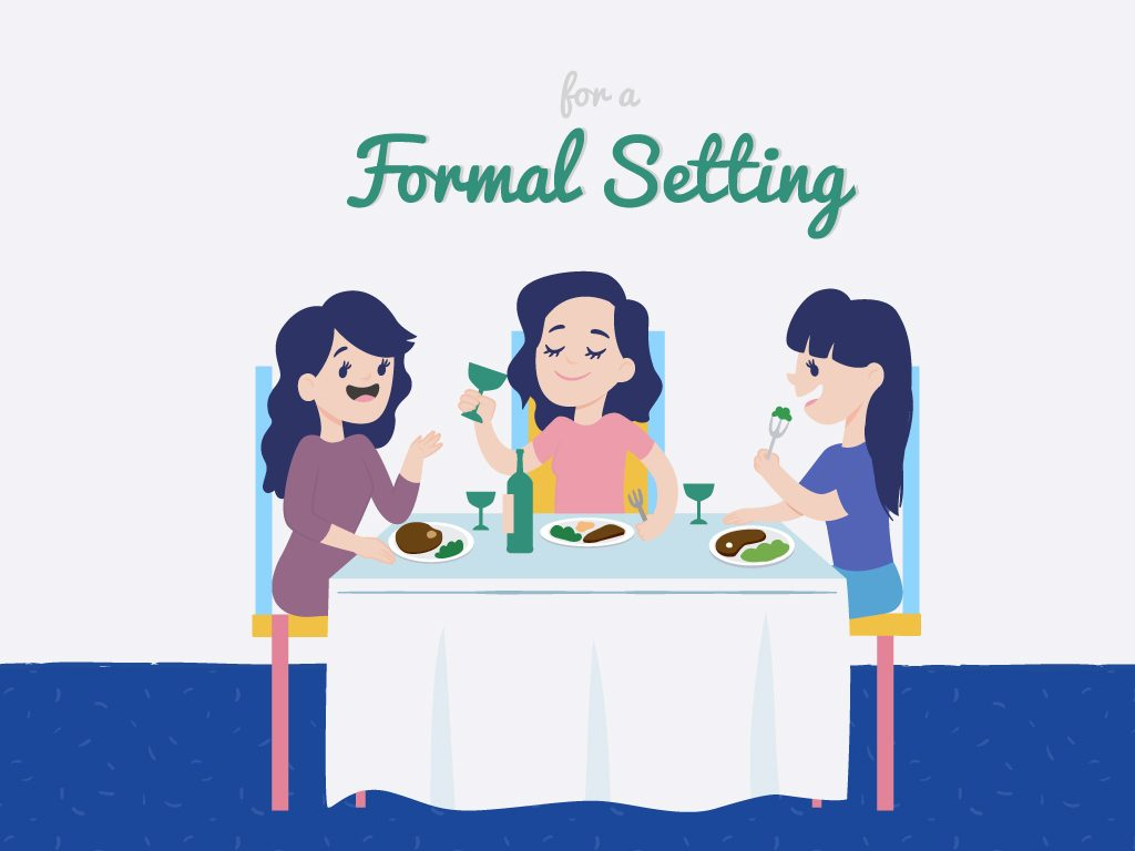 For a Formal Setting