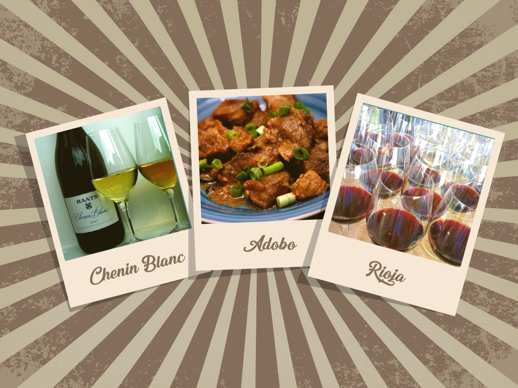 Adobo – Chenin Blanc or Rioja