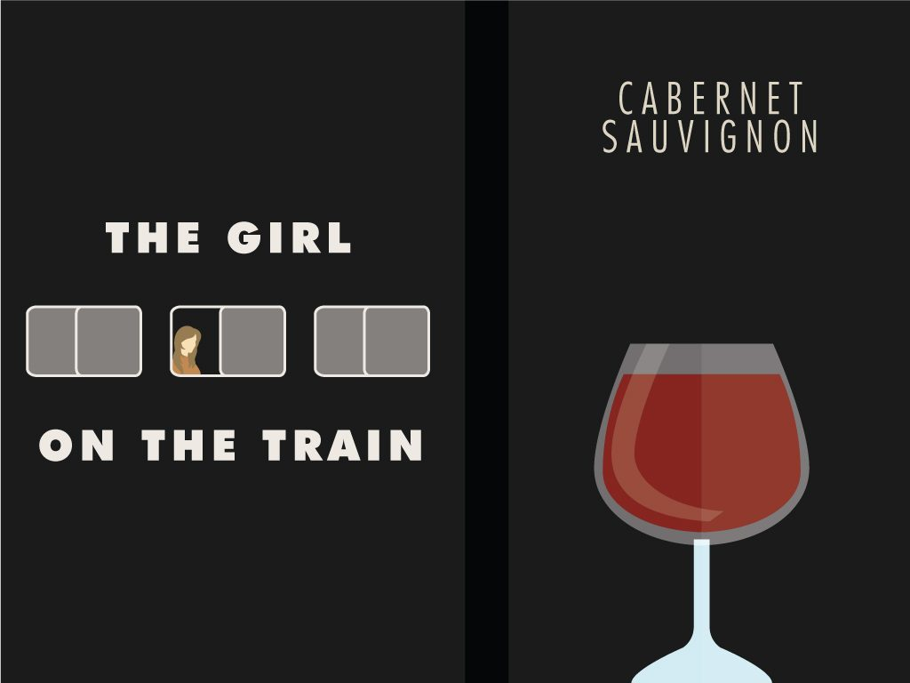 Paula Hawkins' The Girl on the Train + Cabernet Sauvignon