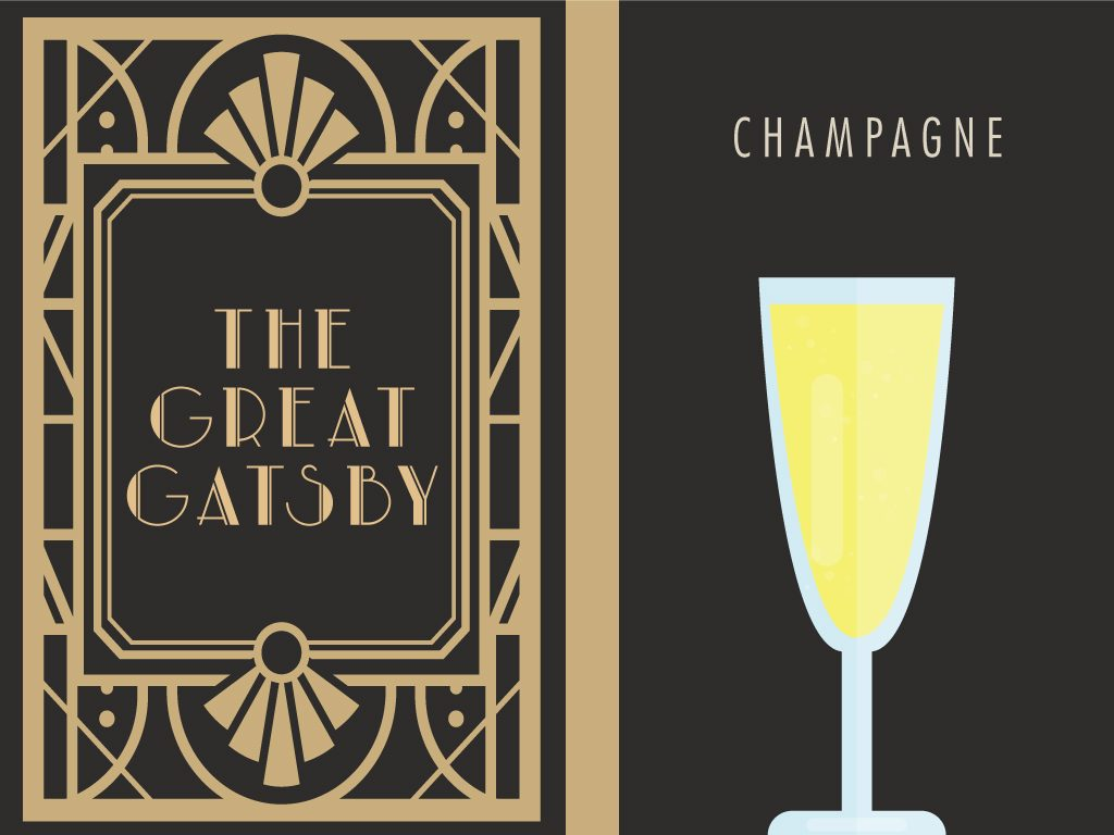 Scott Fitzgerald's The Great Gatsby + Champagne