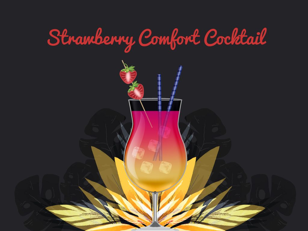 Strawberry Comfort Cocktail