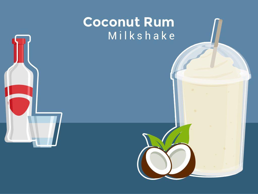 Coconut Rum Milkshake