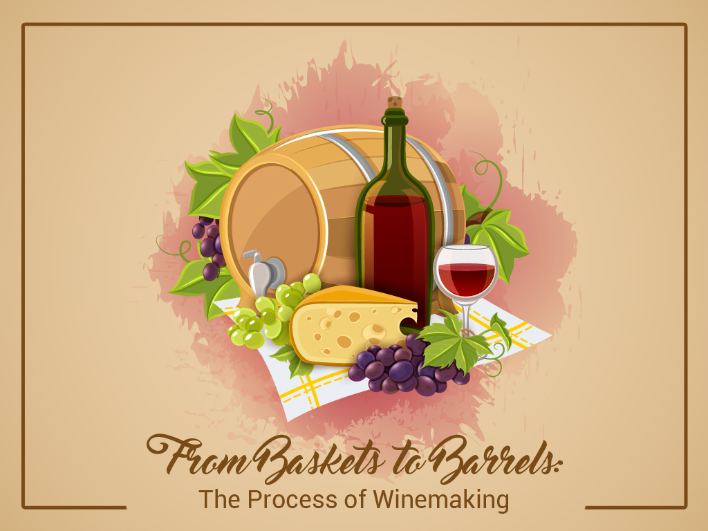 From Baskets to Barrels The Process of Winemaking
