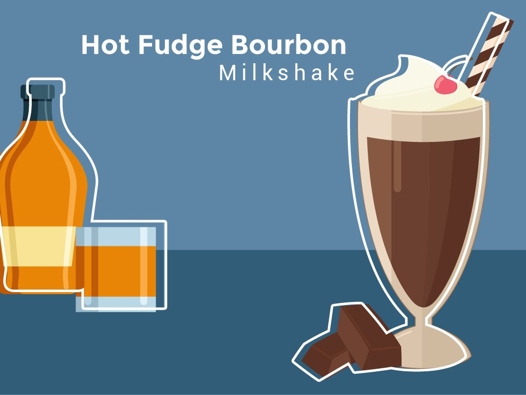 Hot Fudge Bourbon Milkshake