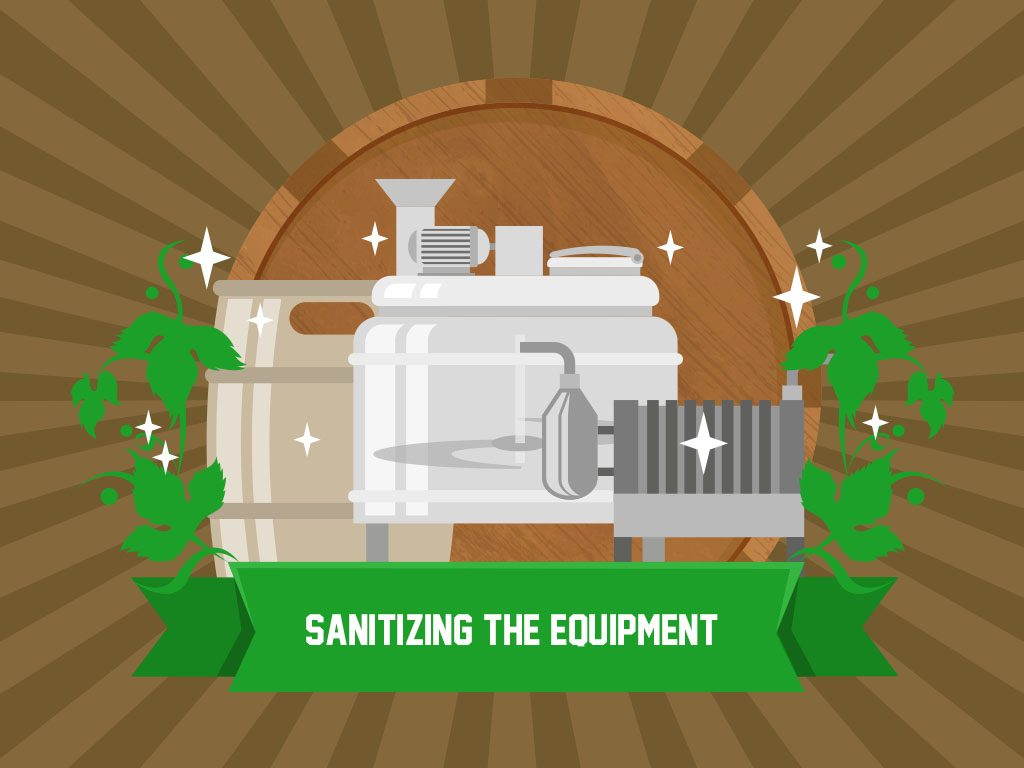 Sanitizing The Equipment